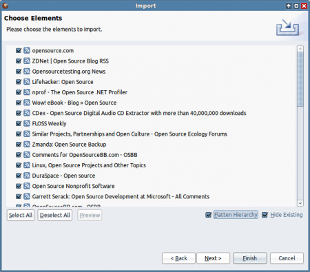 RSSOwl - RSS kanály k tématu open source
