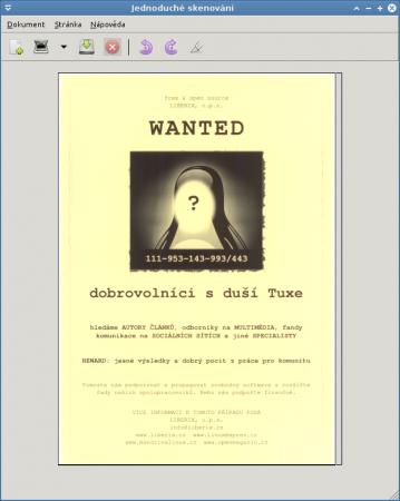 Jednoduché skenování v Linuxu