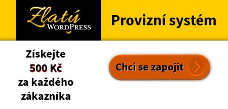Provizní systém Zlatý WordPress
