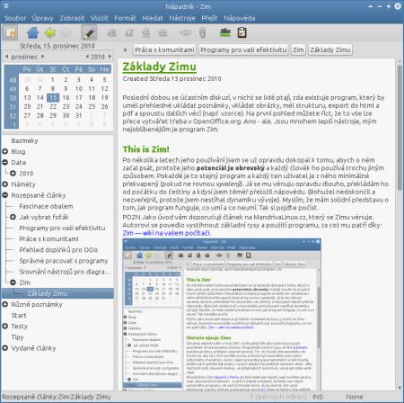 Zim - desktopová wiki