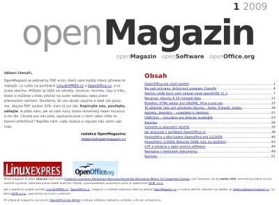 openMagazin 1/20009