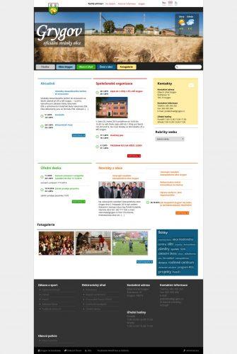 Webové stránky Grygova