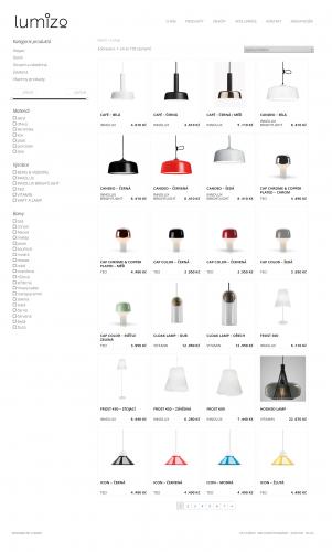 e-shop se svítidly Lumizo
