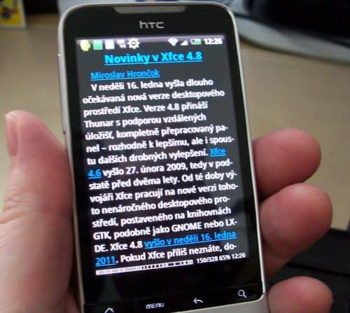 openMagazin v mobilním telefonu