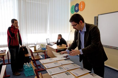 Momentka ze setkání učitelů, březen 2012