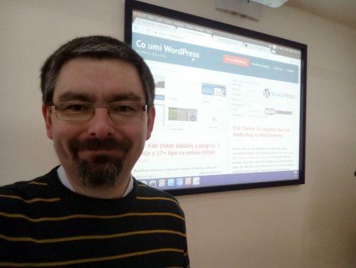Vlastimil Ott při školení WordPress